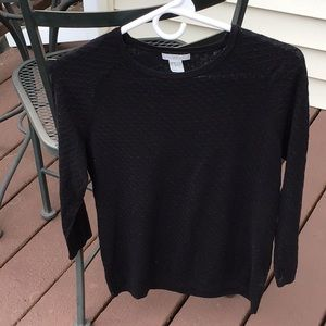 H&M black 3/4 sleeves knit top
